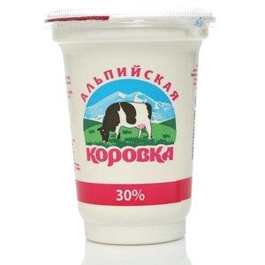 Сметанный продукт 30% ТМ Альпийская коровка