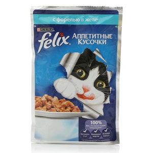 Корм для кошек Felix с форелью в желе ТМ Purina (Пурина)