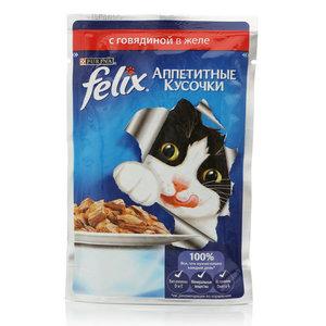 Корм для кошек Felix с говядиной в желе ТМ Purina (Пурина)