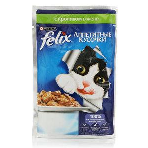 Корм для кошек Felix с кроликом в желе ТМ Purina (Пурина)
