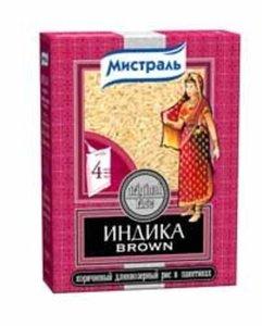 Рис коричневый длиннозерный (в пакетах для варки) ТМ Индика Brown
