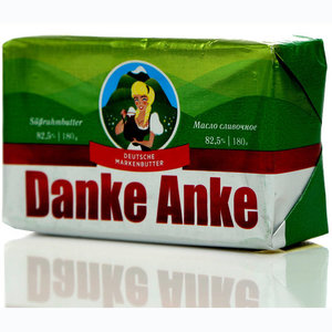 Масло сладко-сливочное несоленое 82,5% ТМ Danke Anke (Данке Анке)