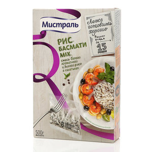 Рис смесь риса Басмати Mix (в пакетах для варки) ТМ Мистраль
