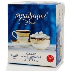 Сахар белый кусковой ТМ Традиция