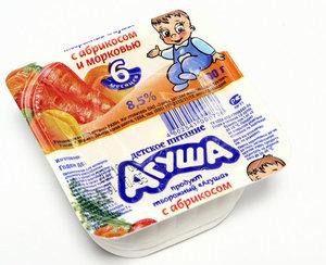Творожок с абрикосом и морковью 8,5% ТМ Агуша