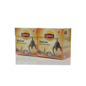 Чай черный 2*20*1,6г ТМ Lipton (Липтон) pear chocolate с кусочками груши