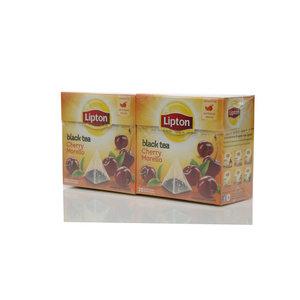 Чай черный 2*20*1,7г ТМ Lipton (Липтон) cherry morello с кусочками вишни