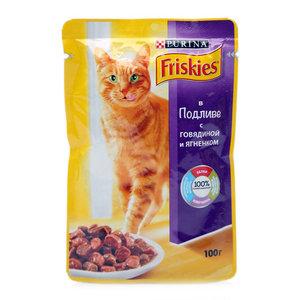 Корм для кошек c Говядиной и ягненком в подливе ТМ Friskies (Фрискис)