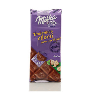 Шоколад молочный с фундуком ТМ Milka (Милка)