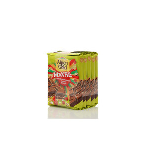 Шоколад MaxFill кукурузные хлопья, малина, фундук 5*85г ТМ Alpen Gold (Альпен гольд)