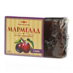 Мармелад желейно-фруктовый вкус сливы ТМ Озерский сувенир
