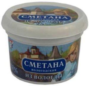 Сметана из Вологды 25% ТД Молочное