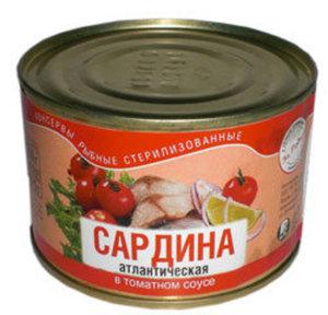 Сардина атлантическая в томатном соусе ТМ За Родину