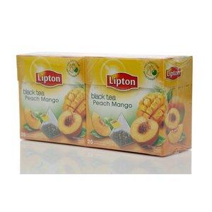 Чай черный 2*20*1,8г ТМ Lipton (Липтон) peach mango tea с кусочками фруктов