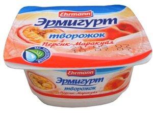 Творожок фруктовый персик-маракуйя 5 % ТМ Эрмигурт