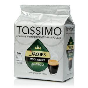 Кофе Tassimo Jacobs Espresso classico 16*7,4г ТМ Jacobs (Якобс)