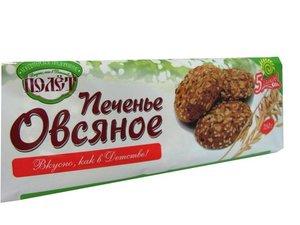Печенье овсяное 5 злаков ТМ Полет