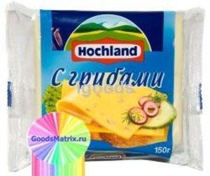 Сыр тостовый c грибами ТМ Hochland (Хохланд)