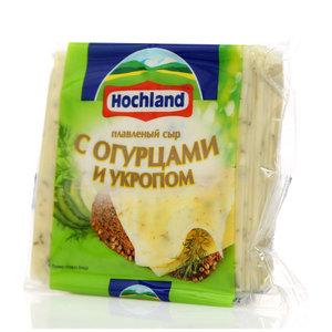 Сыр плавленый в ломтиках с огурцами и укропом 40% ТМ Hochland (Хохланд)