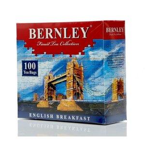Черный цейлонский чай English Breakfast ТМ Вernley (Бернли), 100 пакетиков