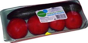 Овощное ассорти из свежих огурцов и томатов ТМ Долина Овощей