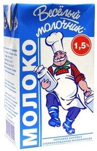 """Молоко """"Веселый молочник"""", 1,5%"""
