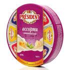 Сыр плавленый ассорти: сливочный, маасдам, эмменталь ТМ President (Президент) 45%