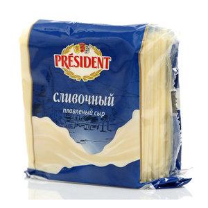 Сыр плавленый ломтики сливочный ТМ President (Президент) 40%
