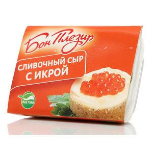 Сыр плавленый сливочный с красной икрой ТМ Бон Плезир