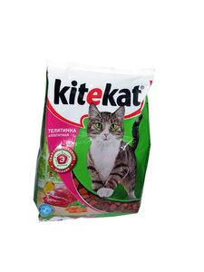 Корм сухой для взрослых кошек Аппетитная телятина ТМ Kitekat (Китекат)