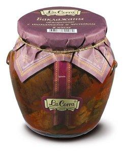 Баклажаны жареные с томатами и чесноком в масле с/б twist-off 580 (12) La Corra