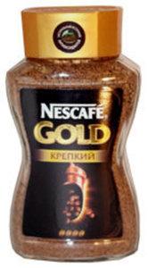 Кофе Nescafe Gold Крепкий ТМ Nescafe (Нескафе) растворимый сублимированный