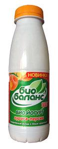 Йогурт (БиоЙогурт) курага-персик 1,5 % ТМ Bio (Био) Баланс