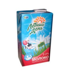 """Молоко """"Летний день"""" ультрапастеризованное 3,2%"""