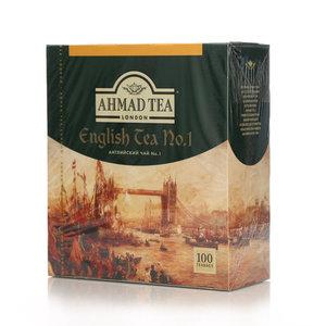Чай чёрный пакетированный с ароматом бергамота English Tea №1 (Английский Чай №1) 100*2г ТМ Ahmad Tea (Ахмад Ти)