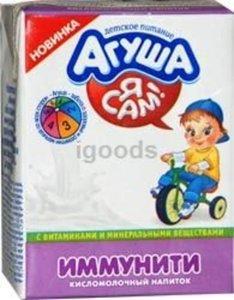 Напиток кисломолочный иммунити ТМ Агуша Я сам!