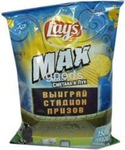 Чипсы сметана и лук ТМ Lay's MAX (Лэйс Макс)