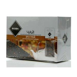 Чай черный байховый ТМ Rioba (Риоба) Эрл Грей, 20 пакетиков для заваривания в чайниках