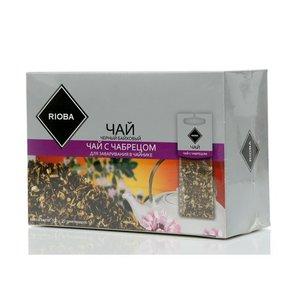 Чай черный ТМ Rioba (Риоба) с чабрецом, 20 пакетиков для заваривания в чайниках