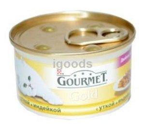 Корм для кошек Gourmet Gold с уткой и индейкой