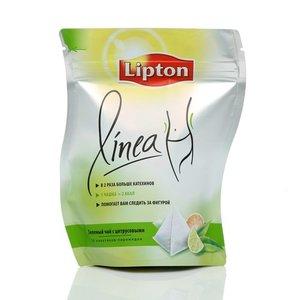 Чай зеленый байховый ТМ Lipton (Липтон) Linea с цитрусовыми, 25 пакетиков