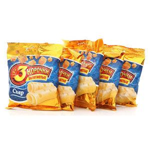 Сухарики пшеничные золотистые со вкусом сыра 5*40г ТМ 3 Корочки
