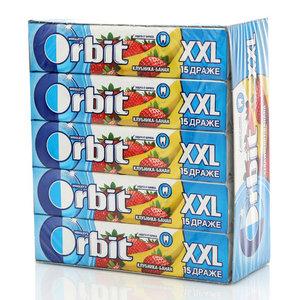 Жевательная резинка Клубника и банан XXL 20 пачек ТМ Orbit (Орбит)