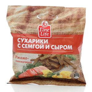 Сухарики ржано-пшеничные семга с сыром ТМ Fine Life (Файн Лайф)