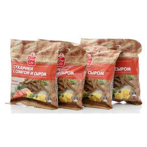 Сухарики ржано-пшеничные семга с сыром ТМ Fine Life (Файн Лайф) 4*40г