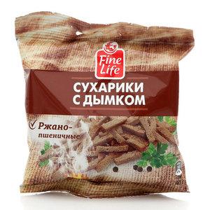 Сухарики ржано-пшеничные с дымком ТМ Fine Life (Файн Лайф)