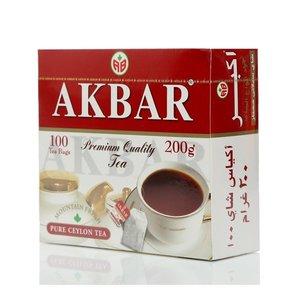Чай черный Mountain Fresh ТМ Akbar (Акбар), 100 пакетиков