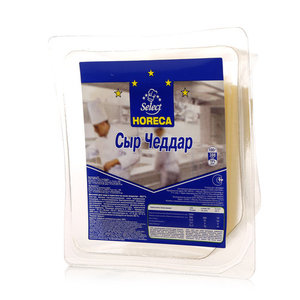Сыр Чеддар 50% в нарезке ТМ Horeca Select (Хорека Селект)