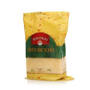 Сыр Литовский 48% ТМ Rokiskio (Рокишкио)