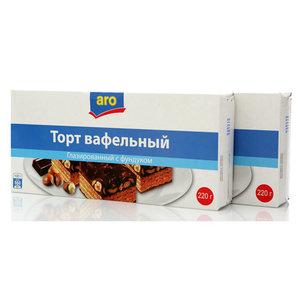 Торт вафельный глазированный с фундуком ТМ Aro (Аро), 2*220г